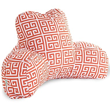 Majestic Home Goods Outdoor/Indoor Towers Reading Pillow, Orange
