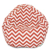 Majestic Home Goods Indoor/Outdoor Chevron Polyester Small Classic Bean Bag Chair, Burnt Orange