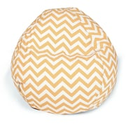Majestic Home Goods Indoor/Outdoor Chevron Polyester Small Classic Bean Bag Chair, Yellow