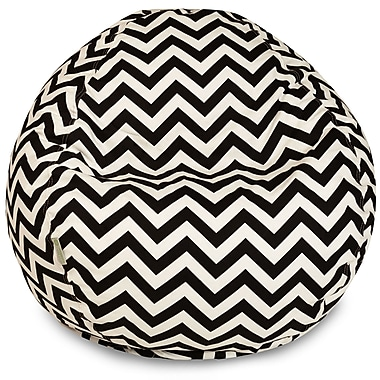 Majestic Home Goods Indoor/Outdoor Chevron Polyester Small Classic Bean Bag Chairs