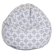 Majestic Home Goods Indoor/Outdoor Links Polyester Small Classic Bean Bag Chair, Gray