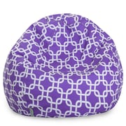 Majestic Home Goods Indoor Links Cotton Duck/Twill Small Classic Bean Bag Chair, Purple