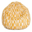 Majestic Home Goods Indoor/Outdoor Sticks Polyester Small Classic Bean Bag Chair, Citrus
