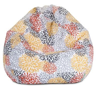 Majestic Home Goods Indoor/Outdoor Polyester Bean Bag Chair, Citrus (85907224076)