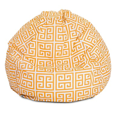 Majestic Home Goods Indoor/Outdoor Towers Polyester Small Classic Bean Bag Chair, Citrus
