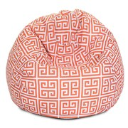 Majestic Home Goods Indoor/Outdoor Towers Polyester Small Classic Bean Bag Chair, Orange