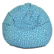 Majestic Home Goods Indoor/Outdoor Towers Polyester Small Classic Bean Bag Chair, Pacific