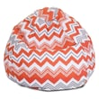 Majestic Home Goods Indoor/Outdoor Zazzle Polyester Small Classic Bean Bag Chair, Orange