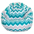 Majestic Home Goods Indoor/Outdoor Zazzle Polyester Small Classic Bean Bag Chair, Pacific