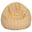 Majestic Home Goods Indoor/Outdoor Aruba Polyester Small Classic Bean Bag Chair, Citrus