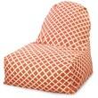 Majestic Home Goods Indoor/Outdoor Bamboo Polyester Kick-It Bean Bag Chair, Burnt Orange