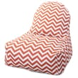 Majestic Home Goods Indoor/Outdoor Chevron Polyester Kick-It Bean Bag Chair, Burnt Orange