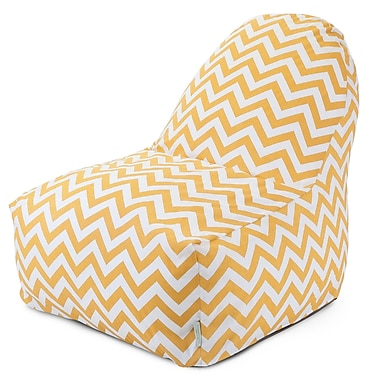 Majestic Home Goods Indoor/Outdoor Polyester Bean Bag Chair, Yellow (85907227029)