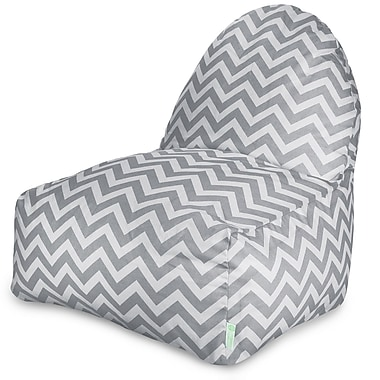 Majestic Home Goods Indoor/Outdoor Polyester Bean Bag Chair, Gray (85907227055)