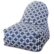 Majestic Home Goods Indoor/Outdoor Links Polyester Kick-It Bean Bag Chair, Navy Blue