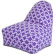 Majestic Home Goods Indoor Links Cotton Duck/Twill Kick-It Bean Bag Chair, Purple