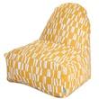 Majestic Home Goods Indoor/Outdoor Sticks Polyester Kick-It Bean Bag Chair, Citrus
