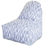 Majestic Home Goods Indoor/Outdoor Sticks Polyester Kick-It Bean Bag Chair, Gray