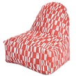 Majestic Home Goods Indoor/Outdoor Sticks Polyester Kick-It Bean Bag Chair, Salmon