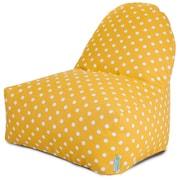 Majestic Home Goods Indoor/Outdoor Ikat Dot Polyester Kick-It Bean Bag Chair, Citrus