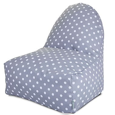 Majestic Home Goods Indoor/Outdoor Polyester Bean Bag Chair, Gray (85907227071)