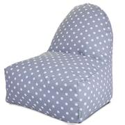 Majestic Home Goods Indoor/Outdoor Ikat Polyester Kick-It Bean Bag Chair, Gray