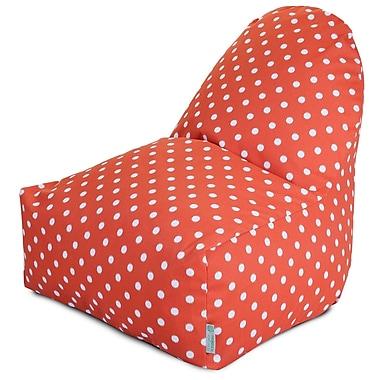 Majestic Home Goods Indoor/Outdoor Polyester Bean Bag Chair, Orange (85907227072)