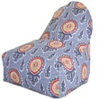 Majestic Home Goods Indoor/Outdoor Michelle Polyester Kick-It Bean Bag Chair, Citrus