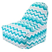 Majestic Home Goods Indoor/Outdoor Zazzle Polyester Kick-It Bean Bag Chair, Pacific