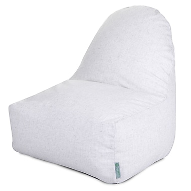 Majestic Home Goods Indoor Wales Cotton Duck/Twill Kick-It Bean Bag Chair, Magnolia