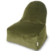 Majestic Home Goods Indoor Villa Poly/Cotton Kick-It Bean Bag Chair, Fern