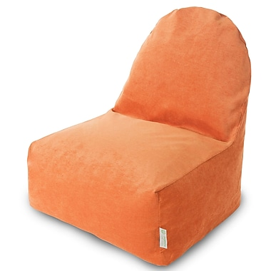 Majestic Home Goods Indoor Polyester Bean Bag Chair, Orange (85907251088)