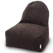 Majestic Home Goods Indoor Villa Poly/Cotton Kick-It Bean Bag Chair, Storm