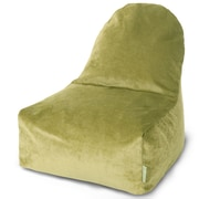 Majestic Home Goods Indoor Villa Poly/Cotton Kick-It Bean Bag Chair, Apple