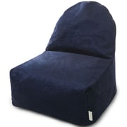 Majestic Home Goods Indoor Villa Poly/Cotton Kick-It Bean Bag Chair, Navy