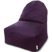 Majestic Home Goods Indoor Villa Poly/Cotton Kick-It Bean Bag Chair, Aubergine