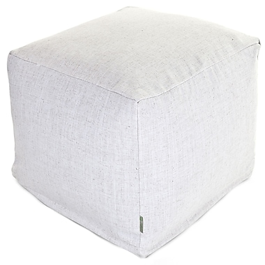Majestic Home Goods Indoor Poly/Cotton Twill Wales Small Cube, Magnolia