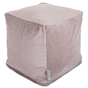 Majestic Home Goods Indoor Polyester/Faux Suede Small Cube, Steel