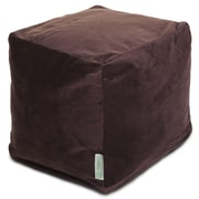 Majestic Home Goods Indoor Polyester/Faux Suede Small Cube, Dark Brown