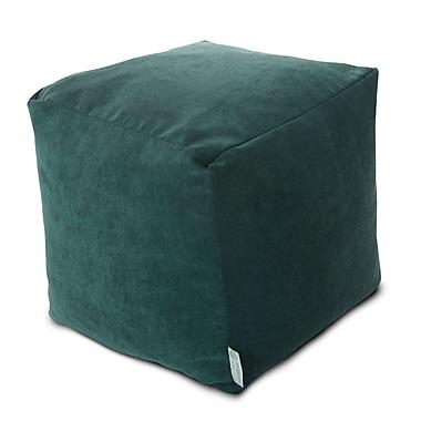 Majestic Home Goods Indoor Villa Polyester Micro-Velvet Small Cube, Marine