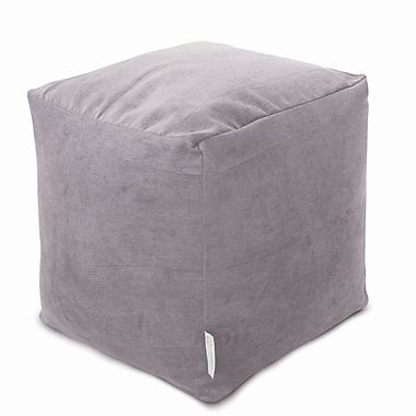 Majestic Home Goods Indoor Villa Polyester Micro-Velvet Small Cube, Vintage