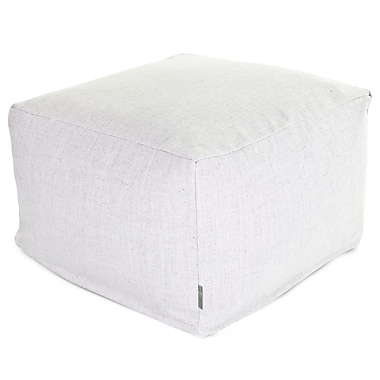 Majestic Home Goods Indoor Poly/Cotton Twill Wales Large Ottoman, Magnolia