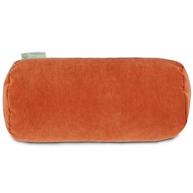 Majestic Home Goods Indoor Villa Round Bolster Pillow, Orange