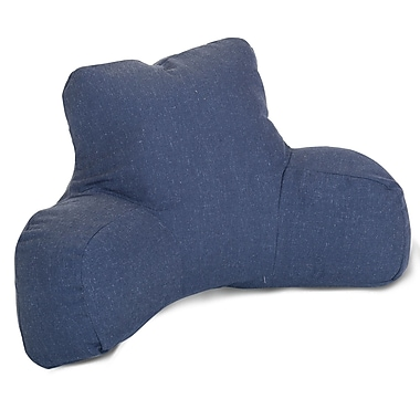 Majestic Home Goods Indoor Wales Reading Pillow, Navy