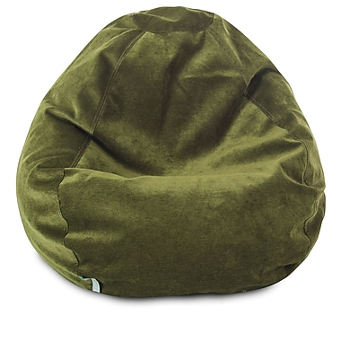Majestic Home Goods Indoor Polyester Micro-Velvet Bean Bag Chair, Fern (85907264022)