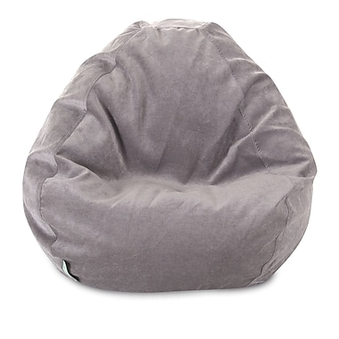 Majestic Home Goods Indoor Villa Polyester Micro-Velvet Small Classic Bean Bag Chair, Vintage