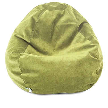 Majestic Home Goods Indoor Villa Polyester Micro-Velvet Small Classic Bean Bag Chair, Apple