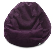 Majestic Home Goods Indoor Villa Polyester Micro-Velvet Small Classic Bean Bag Chair, Aubergine