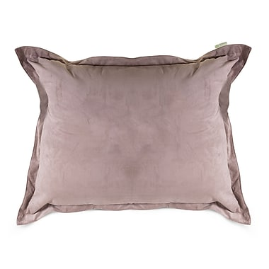 Majestic Home Goods Indoor Micro-Velvet Floor Pillow, Steel