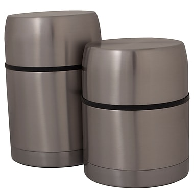 Geo Stainless Steel Vacuum Flasks, Inox, 2/Pack